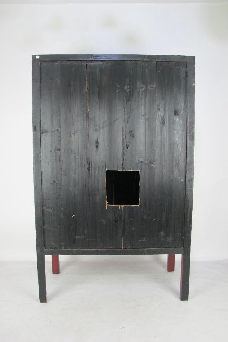 Red Chinese Cabinet with Brass - 7