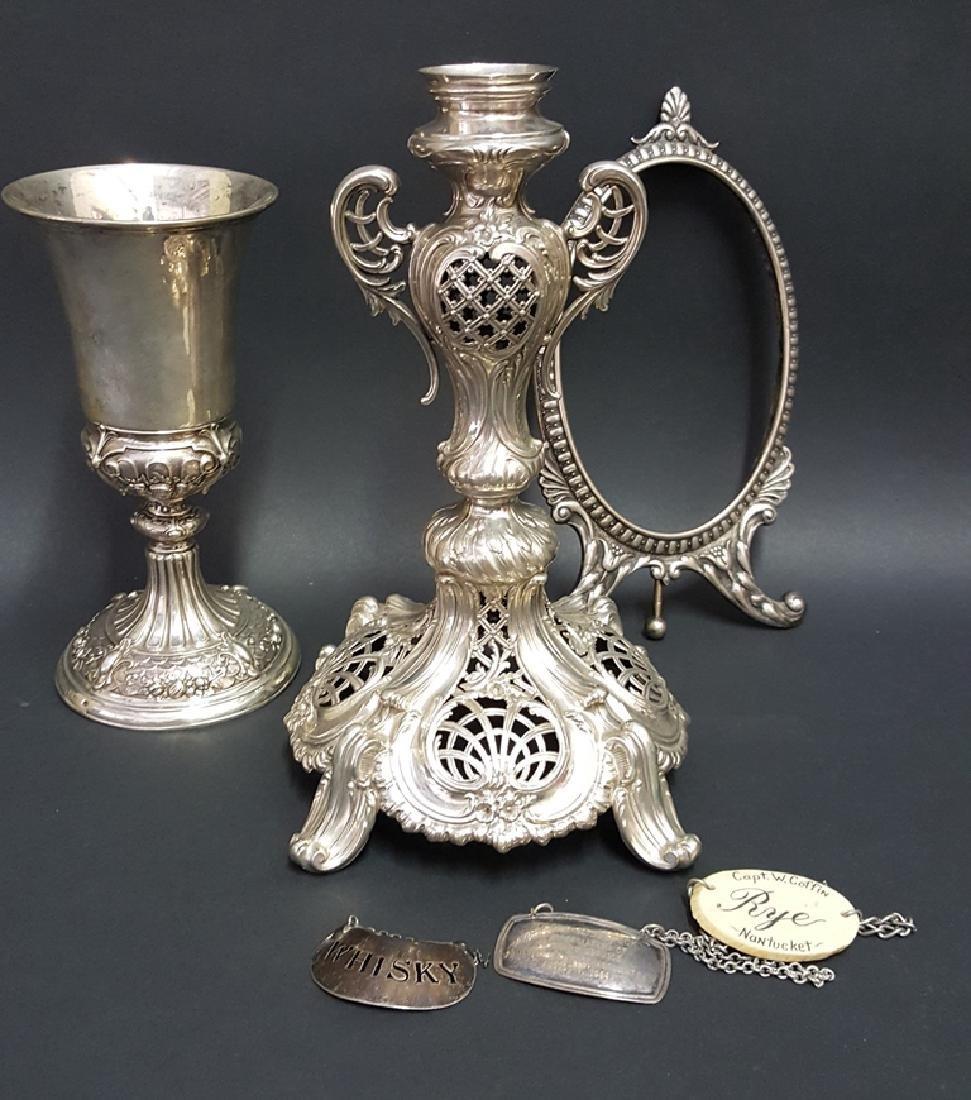 Continental Silver Goblet, Frame & Epergne Base