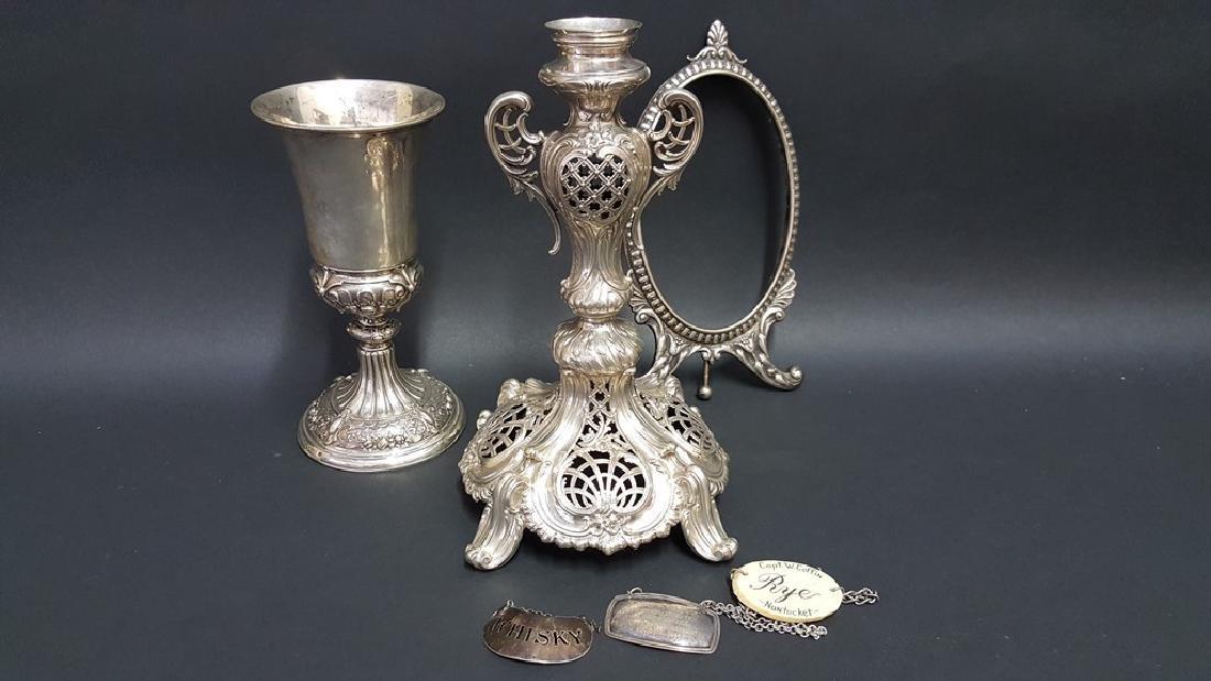 Continental Silver Goblet, Frame & Epergne Base - 2