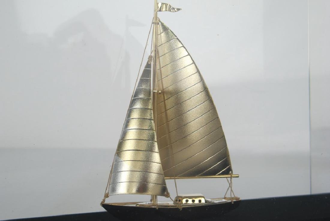 Golden Cruising Yacht Decorative Piece - 4