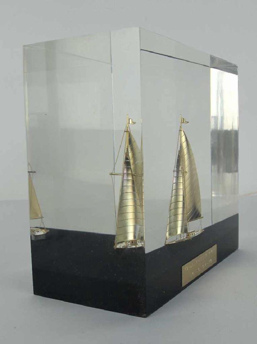 Golden Cruising Yacht Decorative Piece - 6