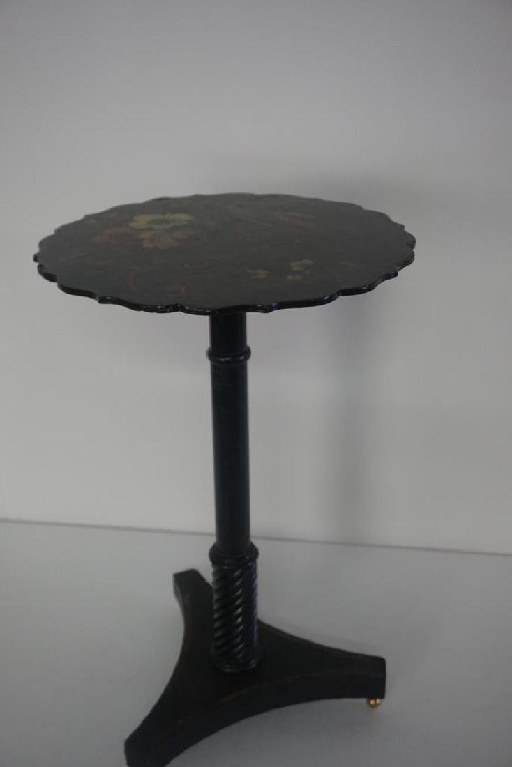 19th C. French Paper Mache Tilt Table
