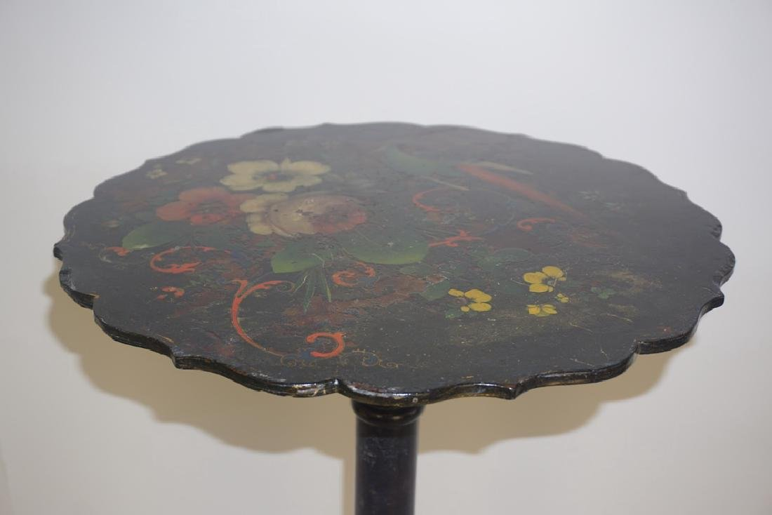 19th C. French Paper Mache Tilt Table - 6