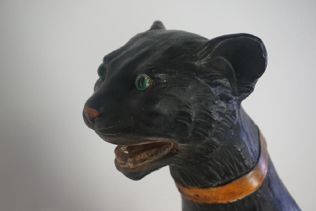 Italian Terra Cotta Cat with Glass Eyes - 2