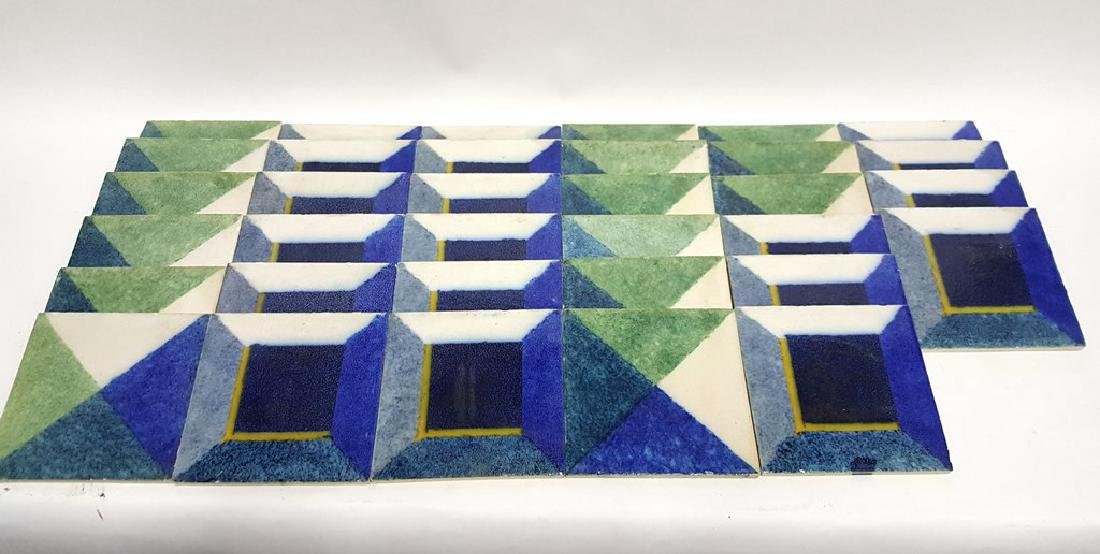 Lot of Signed Deco Tiles