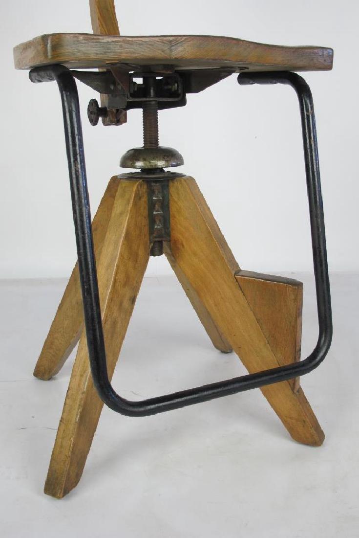 Oak Architect's Chair - 3