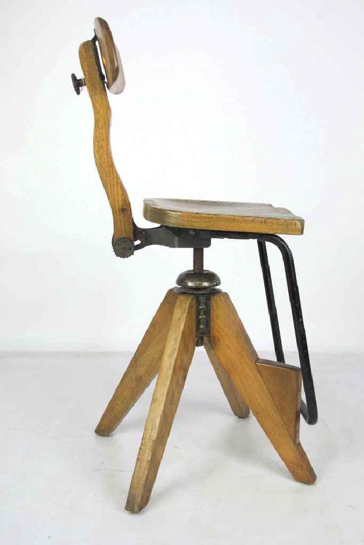 Oak Architect's Chair - 5