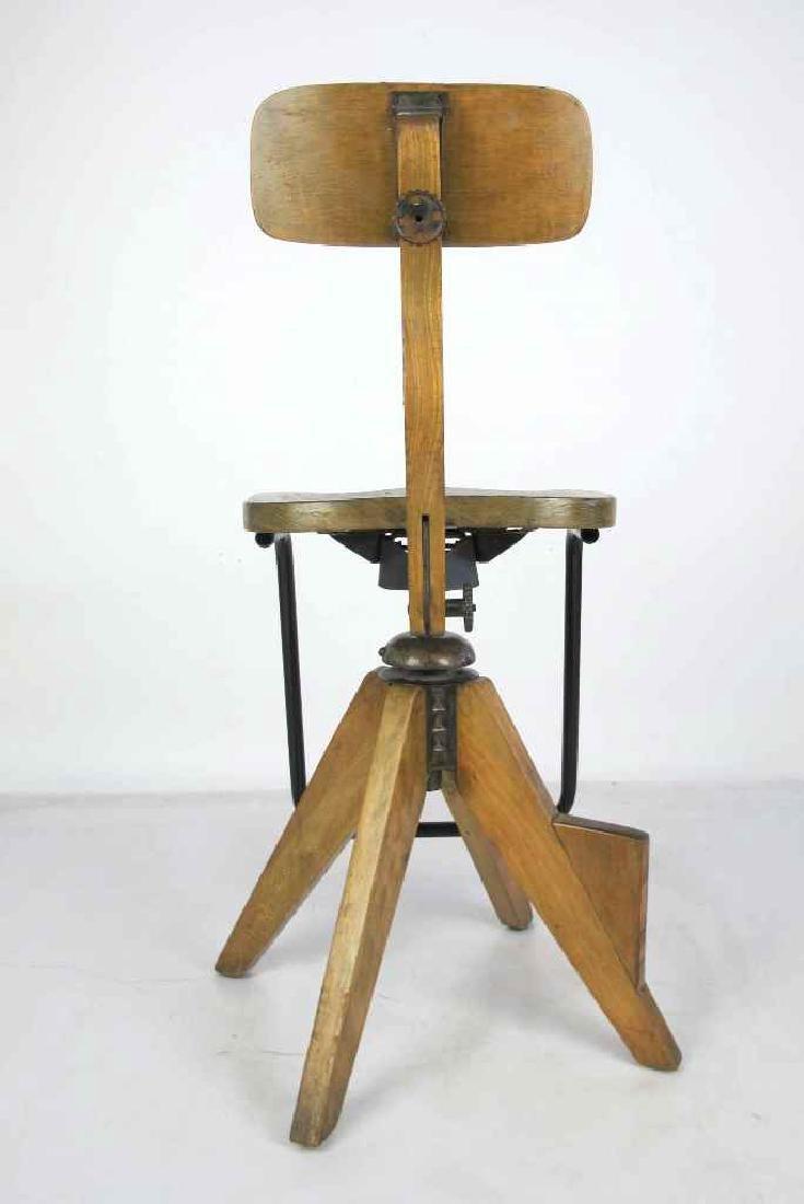 Oak Architect's Chair - 6