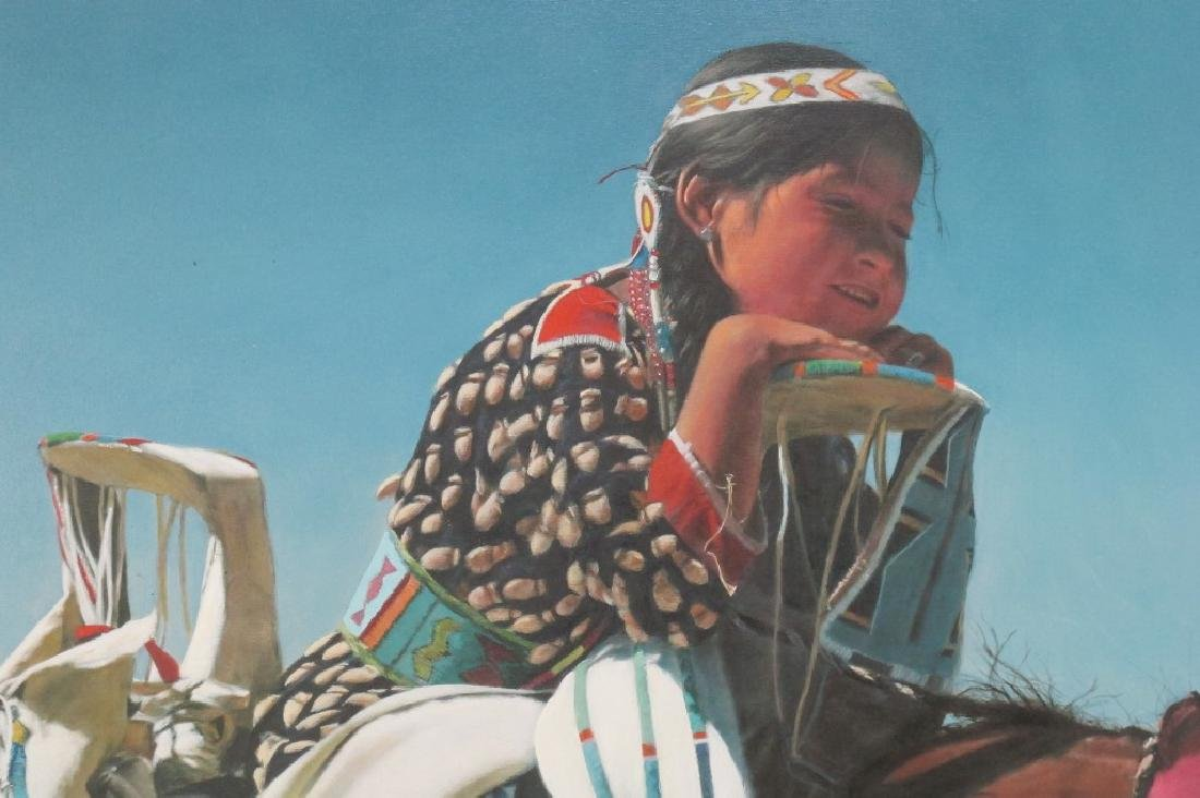 Oil on Canvas of Native American Girl - 2
