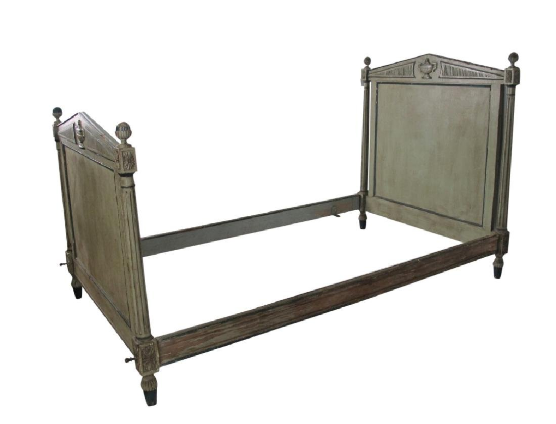 19th C. French Painted Bed