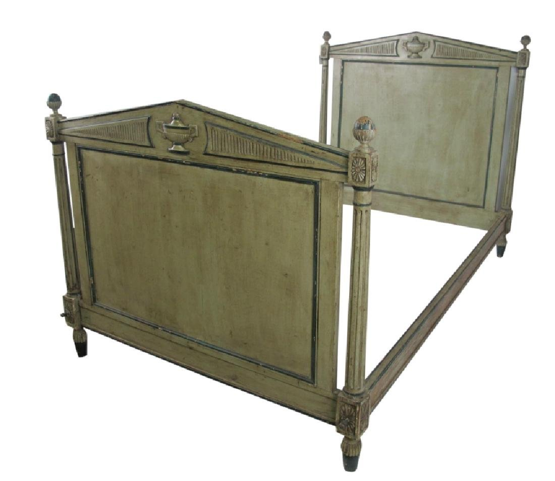 19th C. French Painted Bed - 2