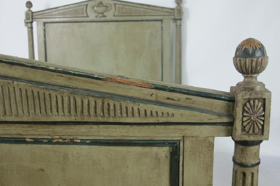 19th C. French Painted Bed - 6