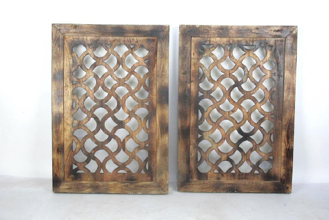 Pair of Painted Window Panels - 6