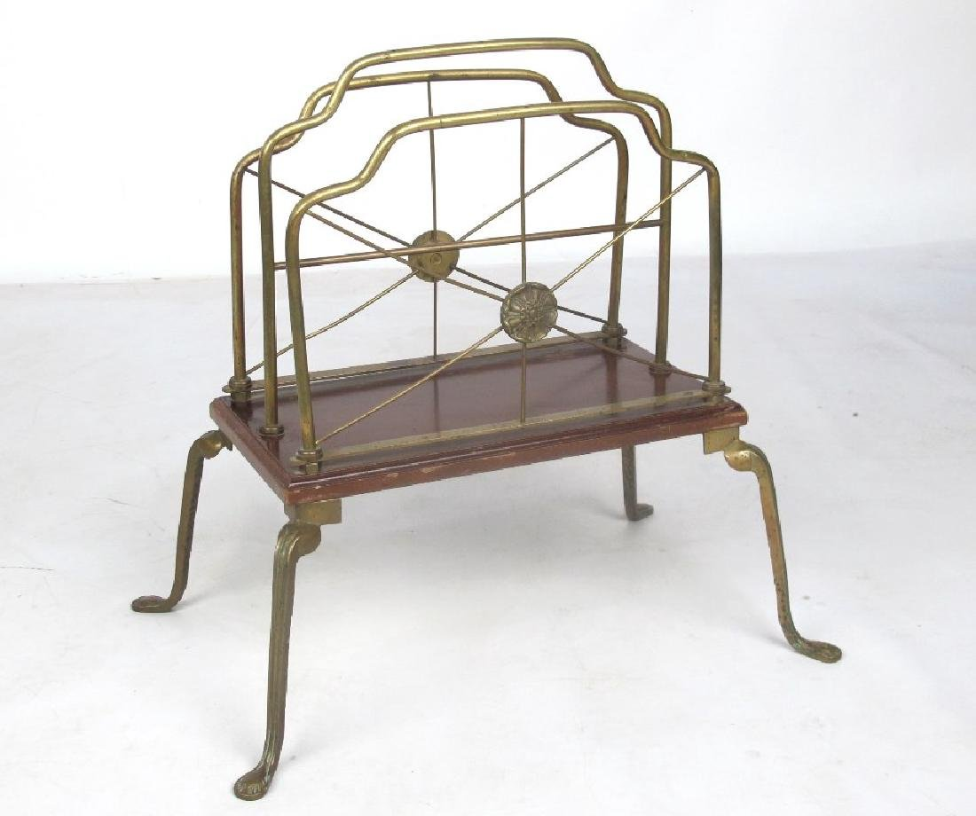 French Style Brass Magazine Stand
