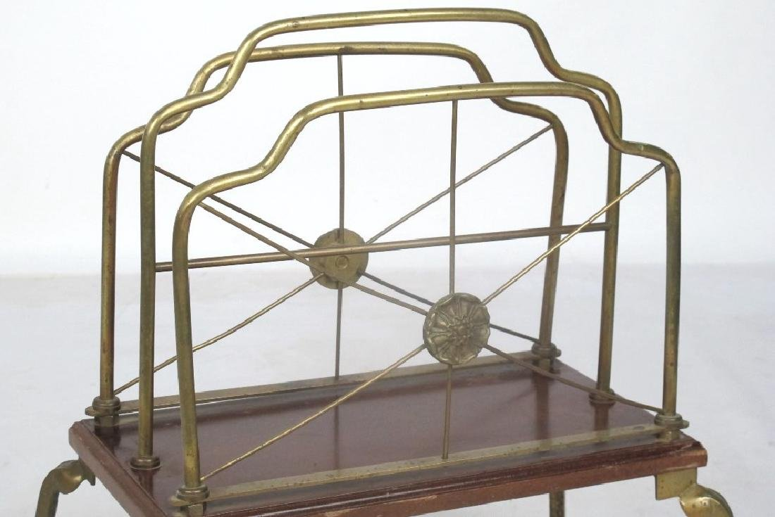 French Style Brass Magazine Stand - 2