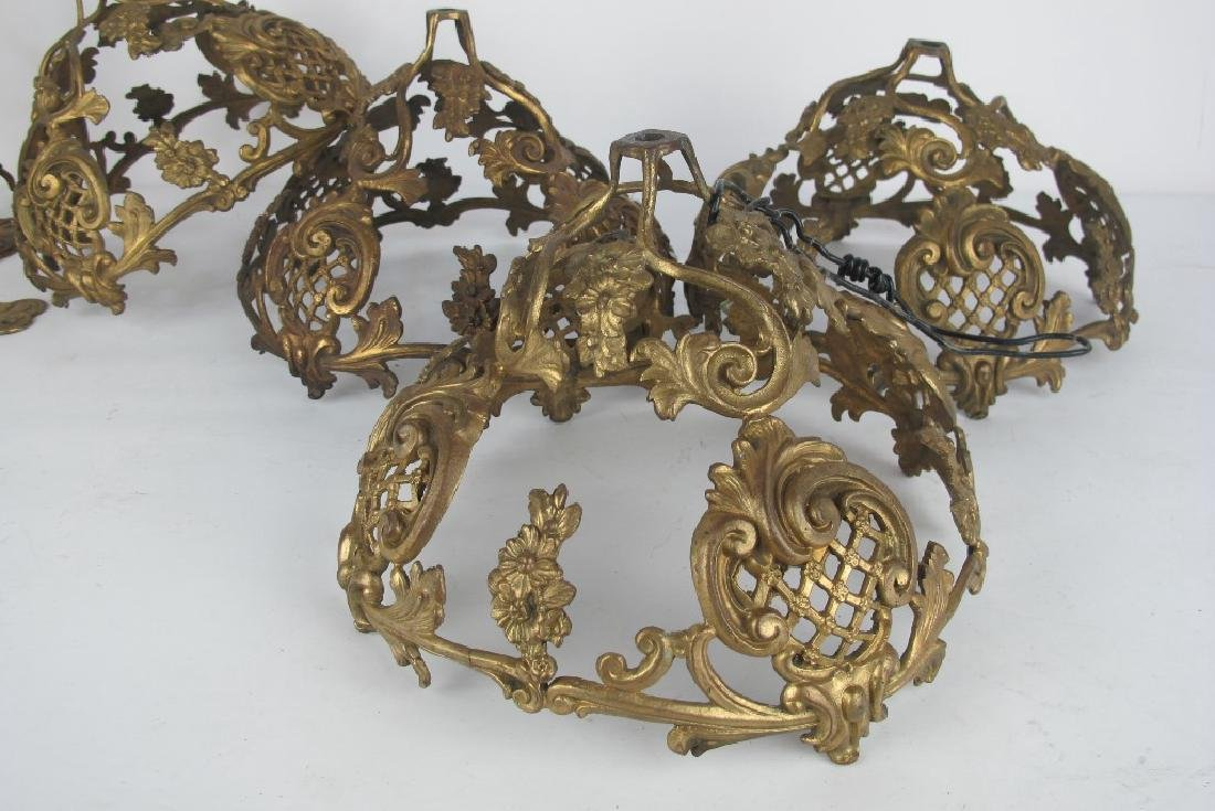 Lot of Gilt Bronze Shades and Hooks - 2
