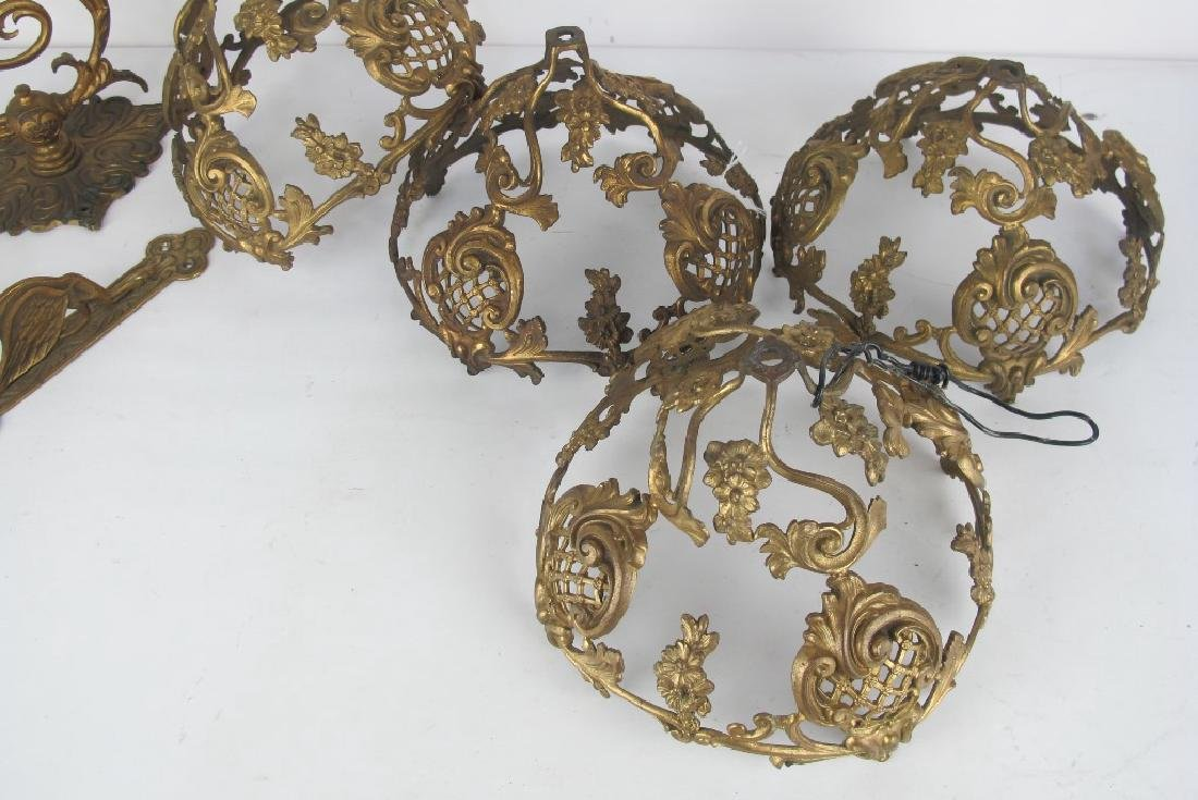Lot of Gilt Bronze Shades and Hooks - 3