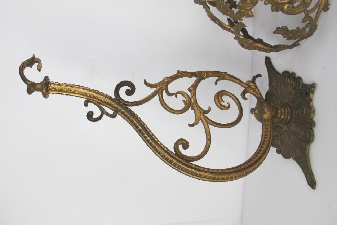 Lot of Gilt Bronze Shades and Hooks - 6