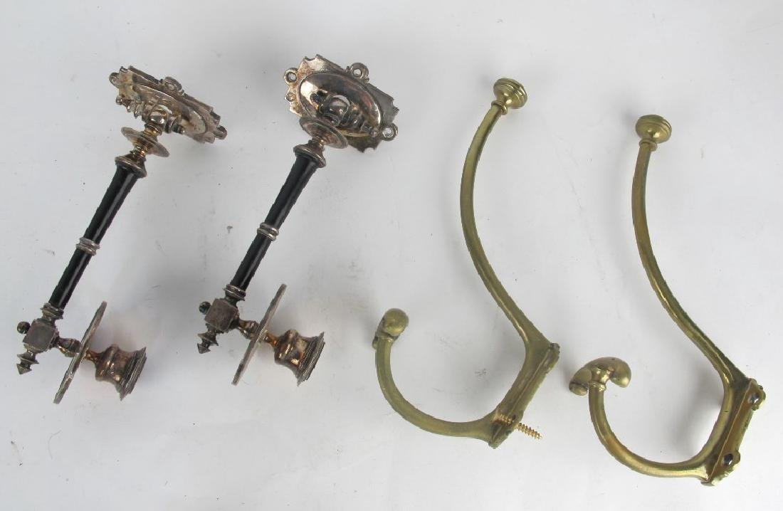 Group of Hoof and Brass Coat Hooks - 6