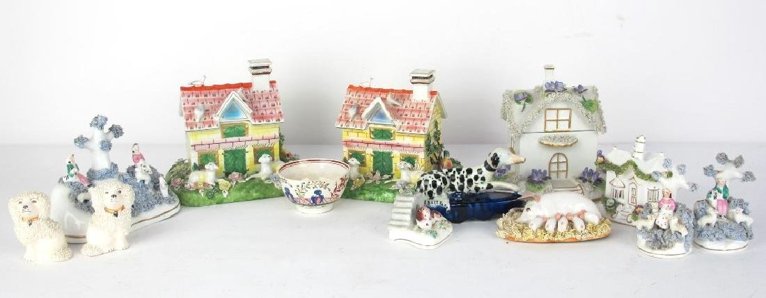 Collection of Staffordshire and More Porcelain