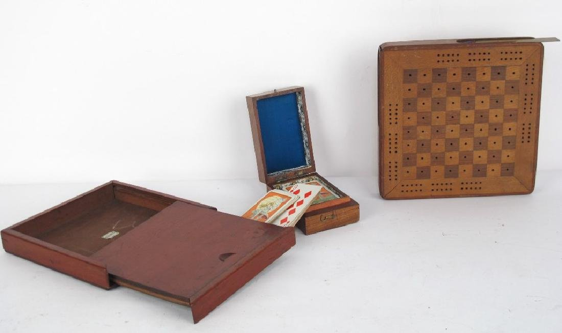 Three Antique Game Boxes