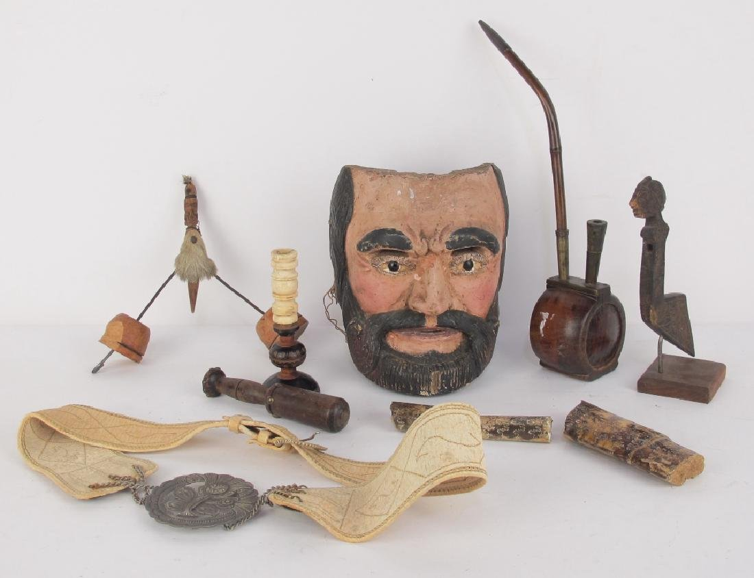 Collection of Early Carved Wood Items