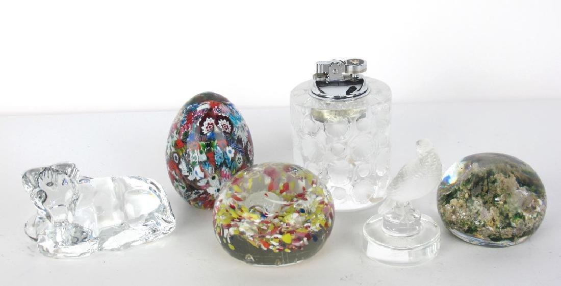 Lalique and Baccarat Paperweights