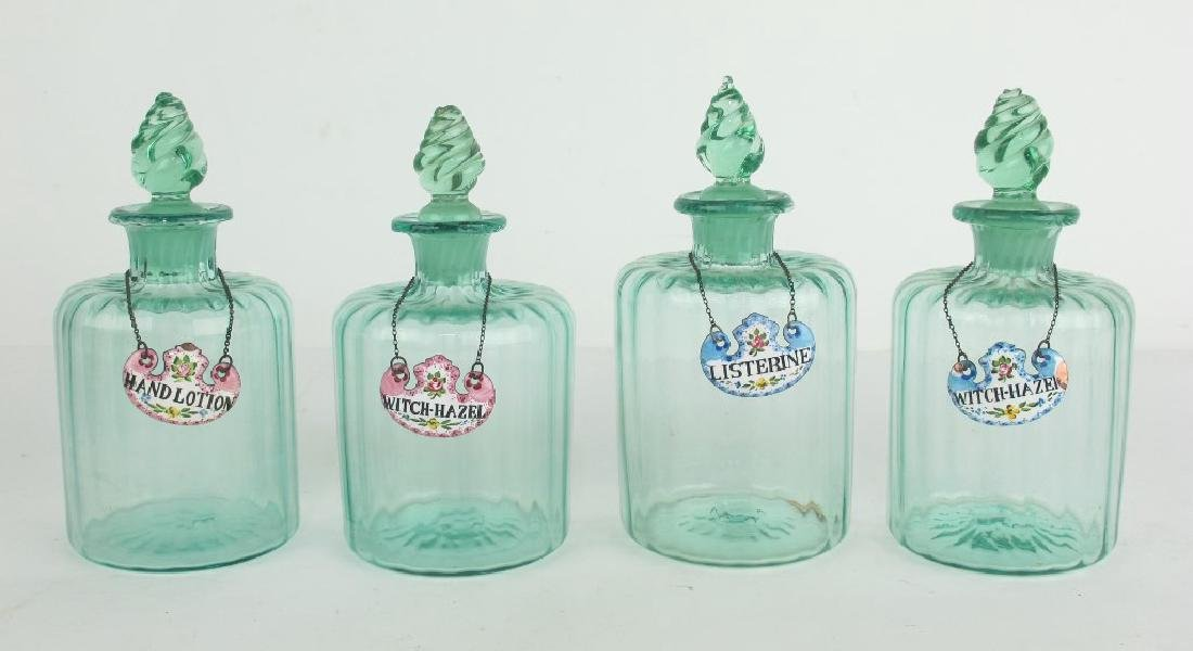 Lot of French Antique Toiletry Bottles - 3