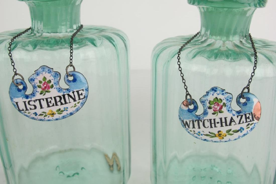 Lot of French Antique Toiletry Bottles - 4
