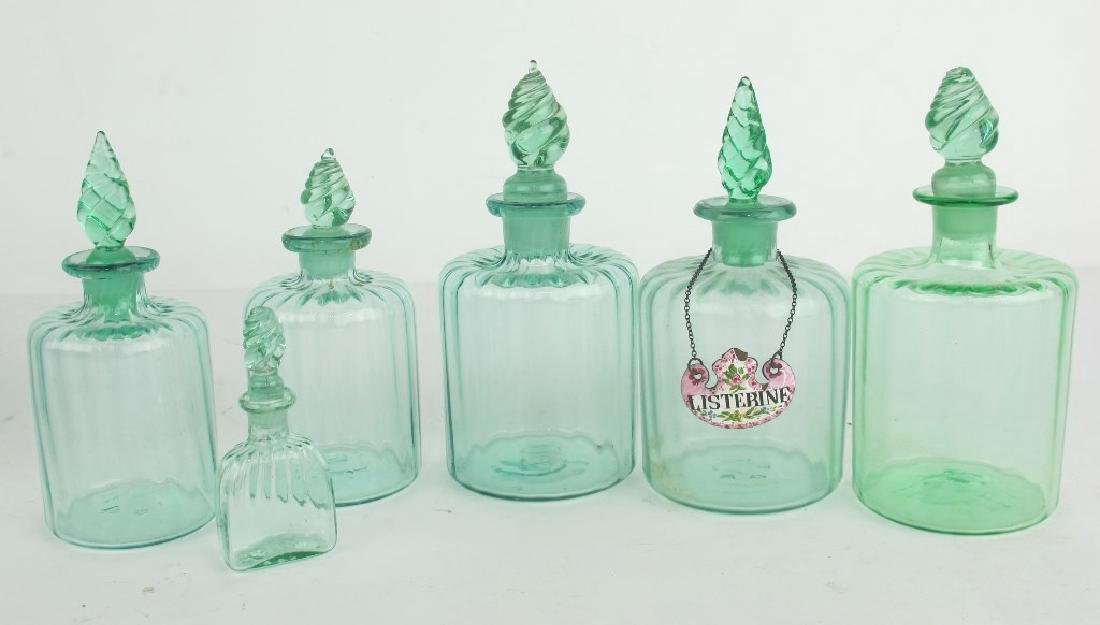 Lot of French Antique Toiletry Bottles - 6