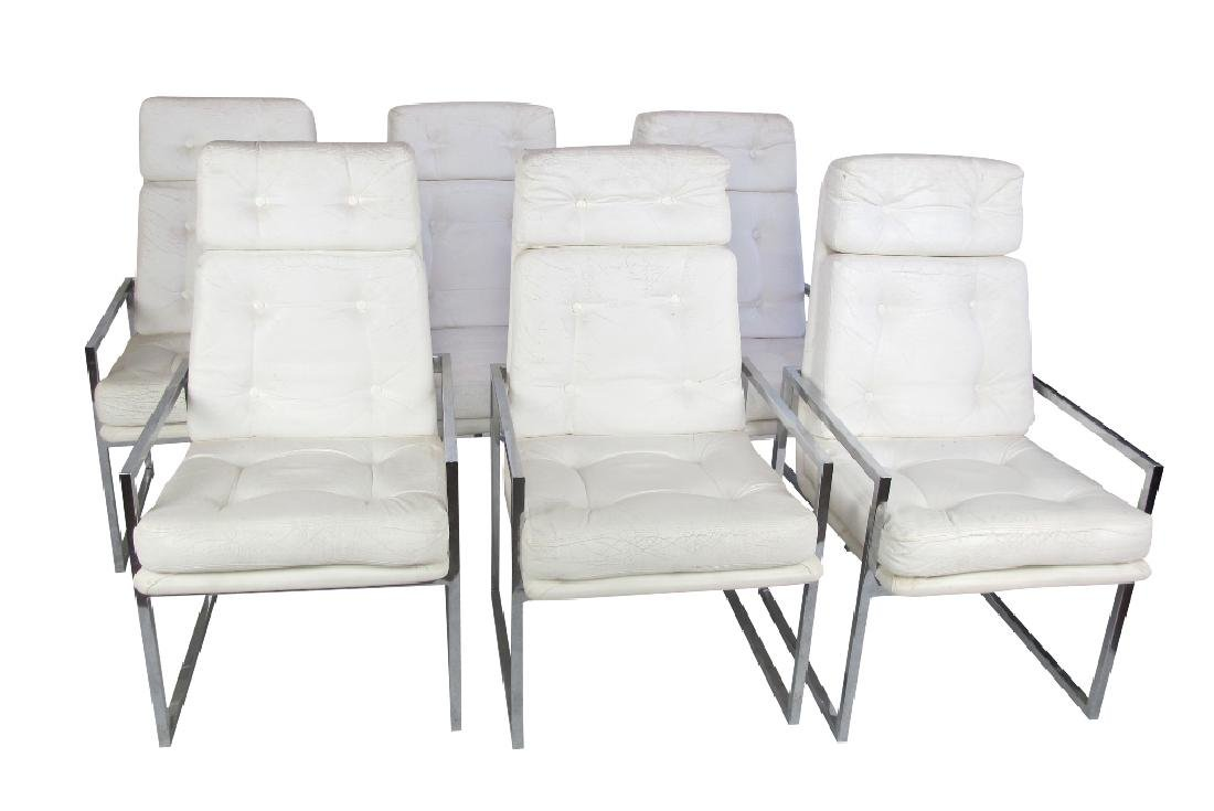 Six Dining Room Chairs by Chrome Craft