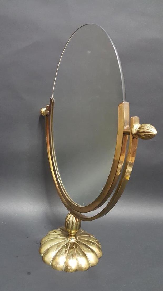 Deco Brass Vanity Mirror - 3