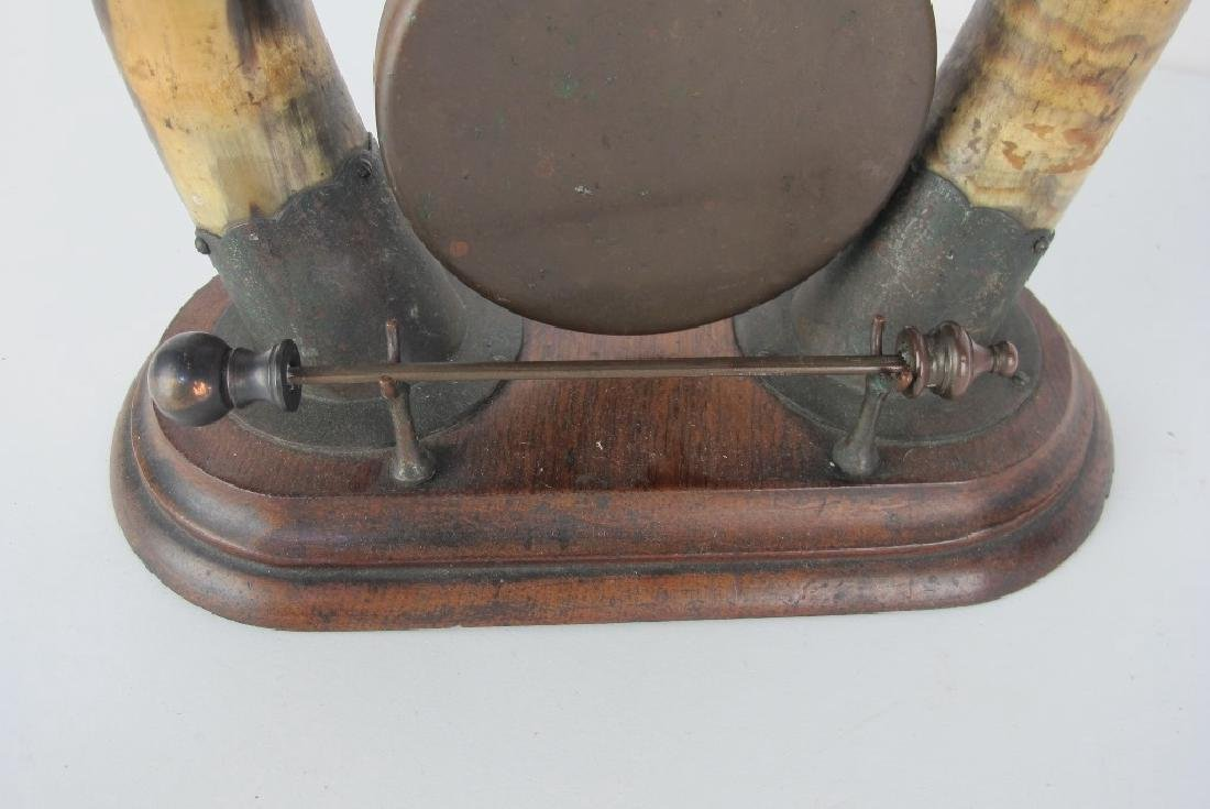 19th C. Horn Brass Dinner Bell - 4