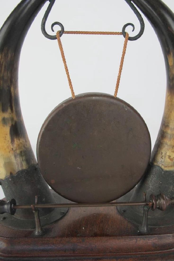 19th C. Horn Brass Dinner Bell - 5