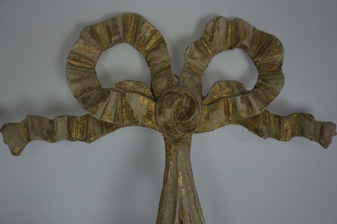 Pair of Carved Candle Sconces - 3
