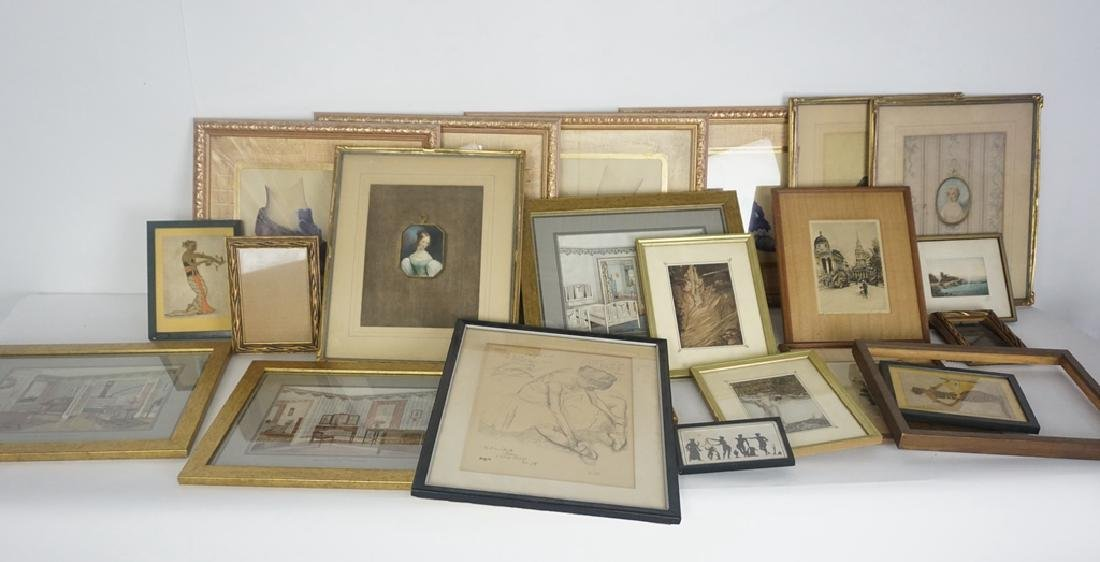 Large Lot of Framed Art