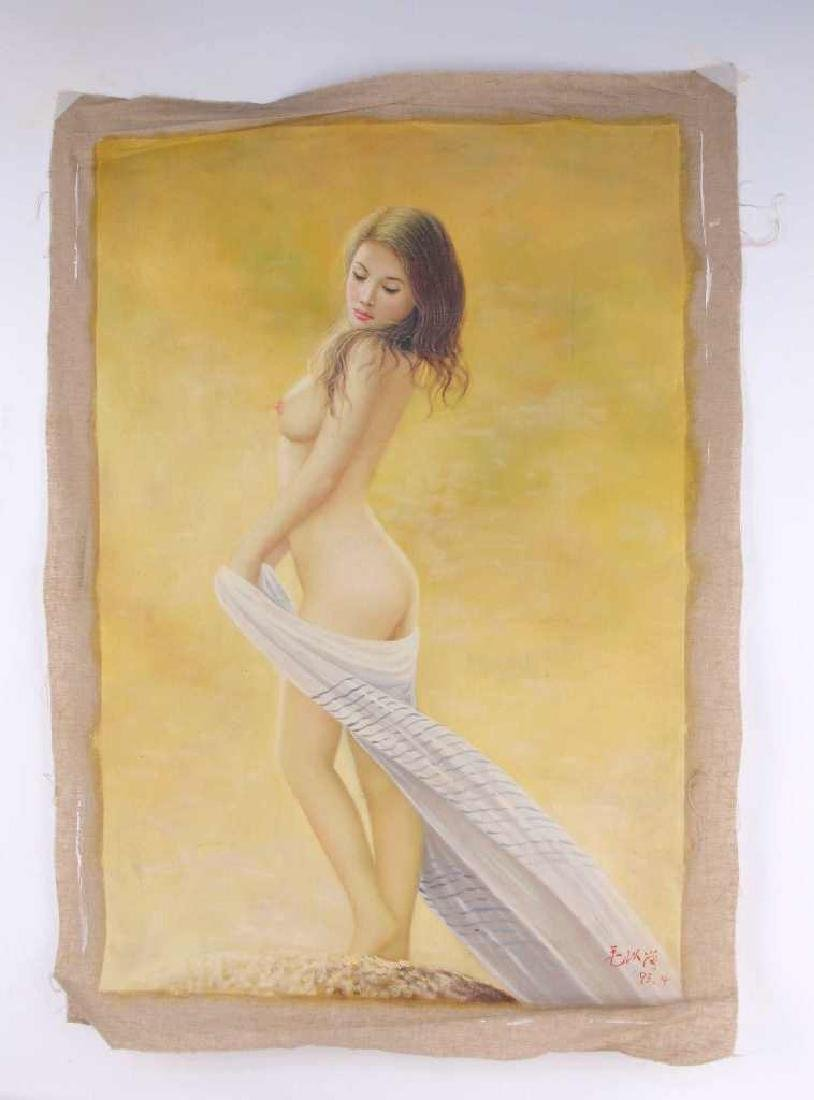 Oil on Canvas of Nude Female Figure