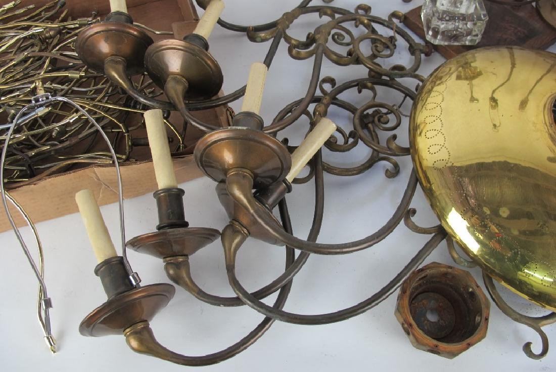 Large Lot of Lamp Parts - 5