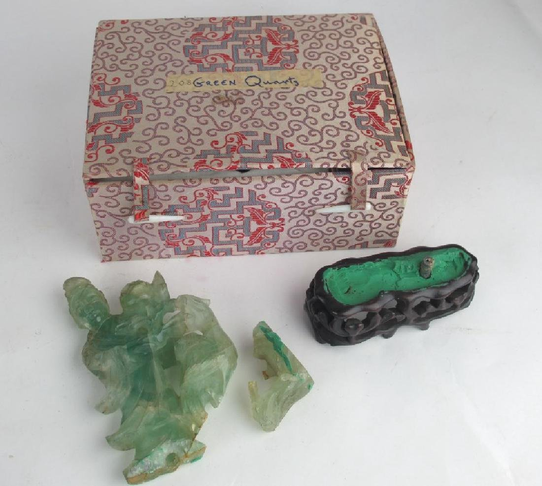 Lot of Asian Jade and Decorative Stone Carving - 2