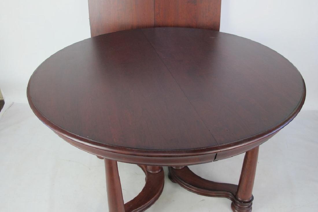 Mahogany Round Top Table - 2