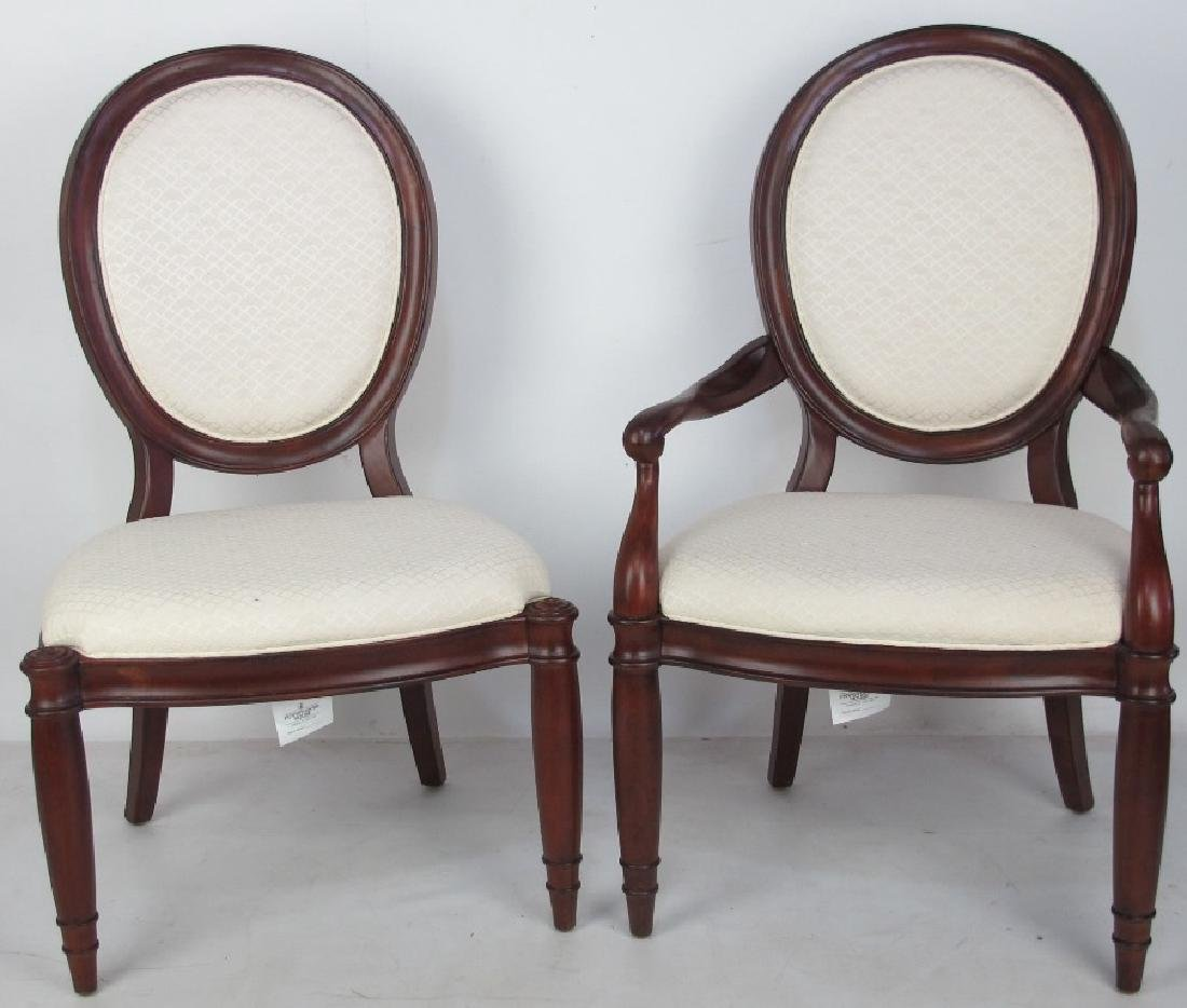 Set of 6 White Upholstered Chairs - 2