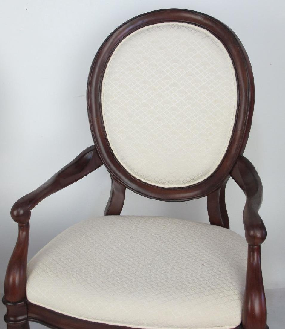 Set of 6 White Upholstered Chairs - 3