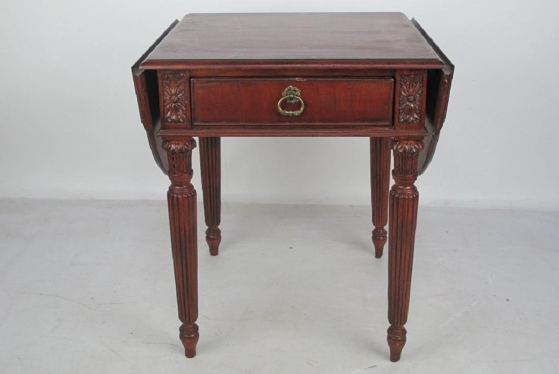 Drop Leaf Mahogany Table
