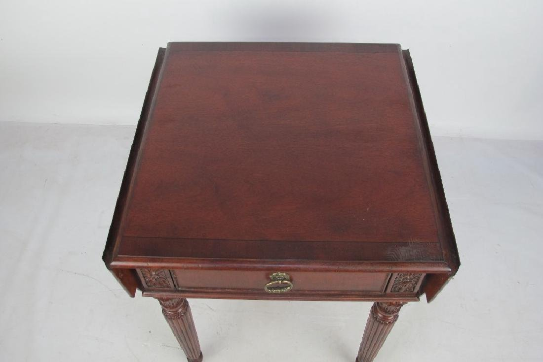 Drop Leaf Mahogany Table - 2