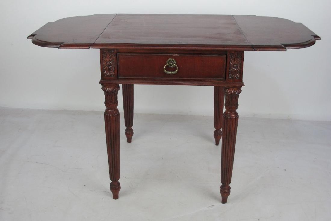 Drop Leaf Mahogany Table - 3