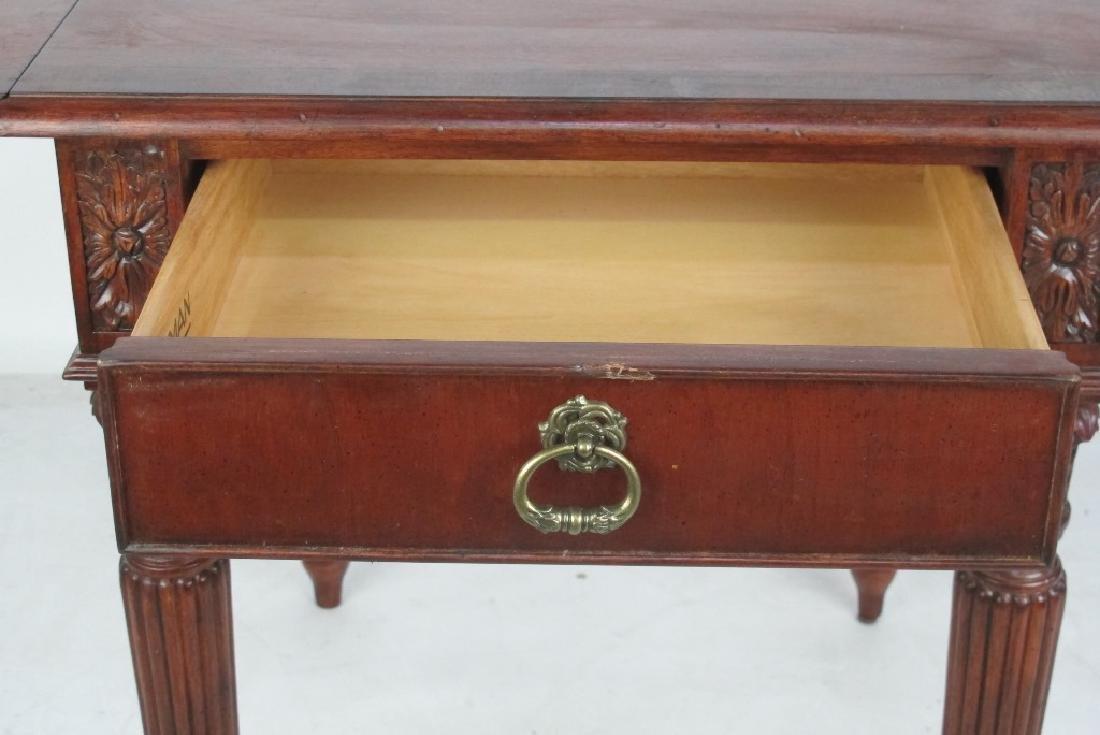 Drop Leaf Mahogany Table - 8