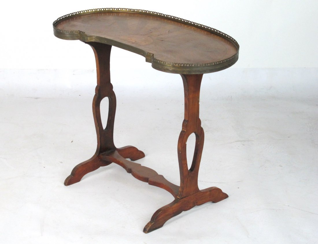 Small French Inlaid Side Table