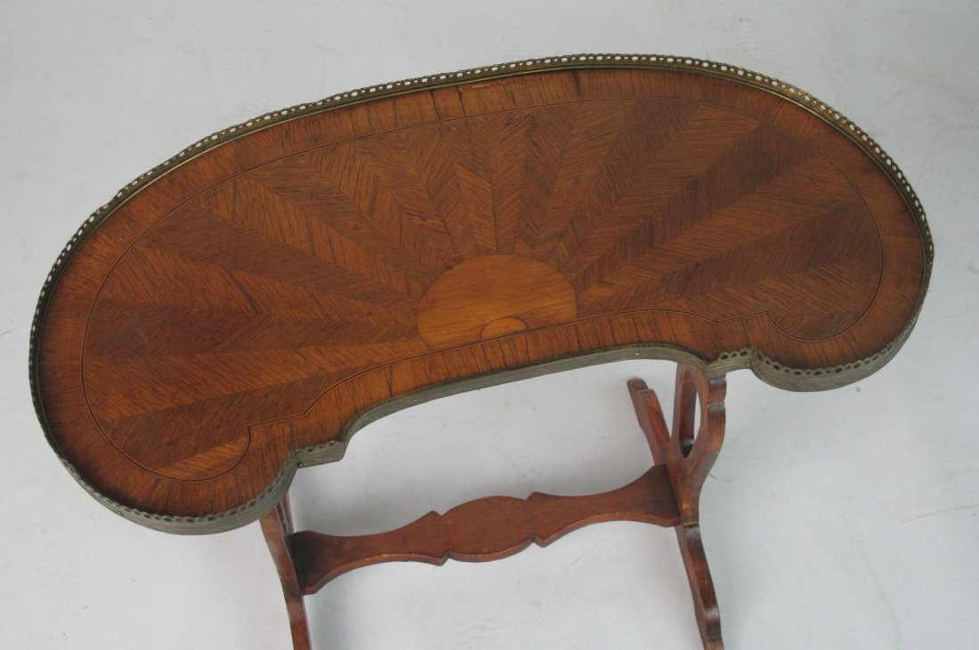 Small French Inlaid Side Table - 2