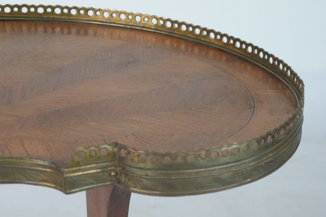 Small French Inlaid Side Table - 3