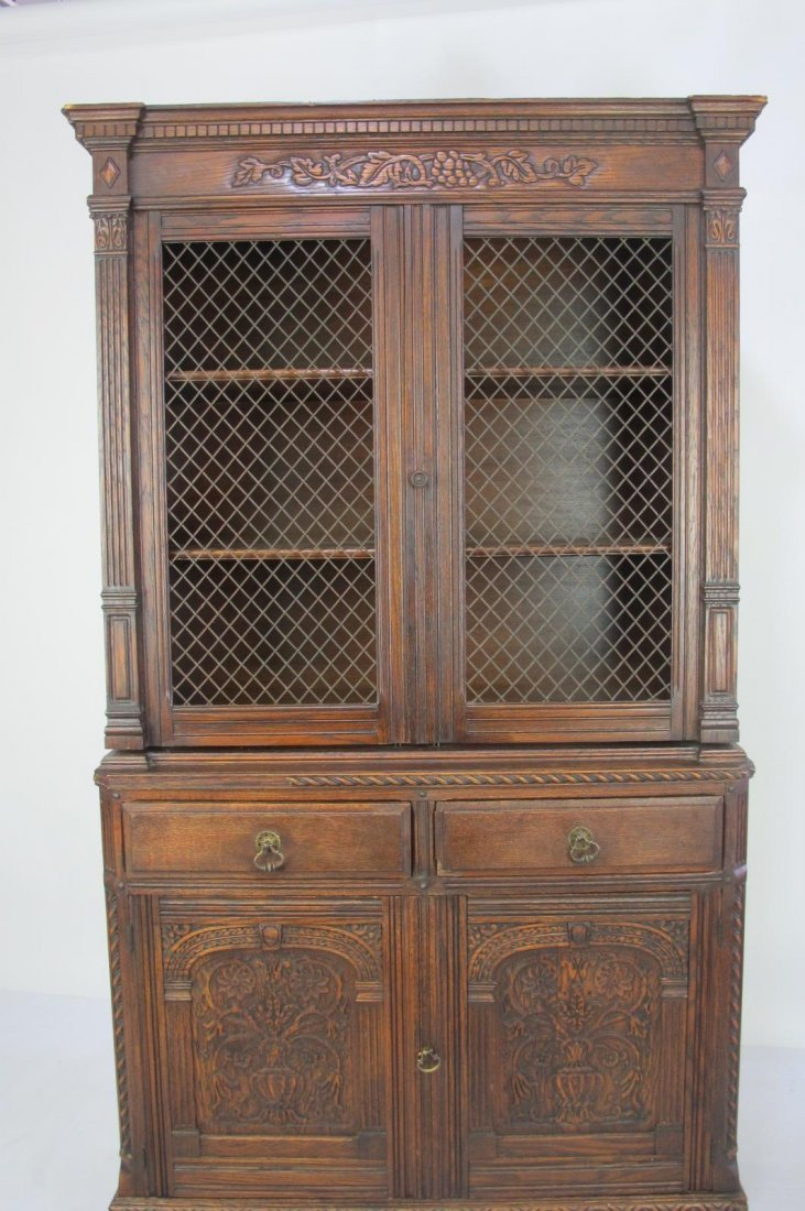 China Cabinet with Carved Detail - 2